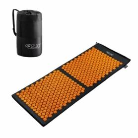 Коврик акупунктурный 4FIZJO Аппликатор Кузнецова Black/Orange (4FJ0047), 120 x 46 см