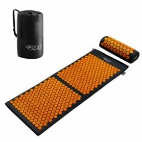 Коврик акупунктурный с валиком 4FIZJO Аппликатор Кузнецова Black/Orange (4FJ0049), 128 x 48 см