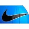 Мяч футбольный Nike Pitch Training (SC3101-413) - голубой, №5 - Фото №2