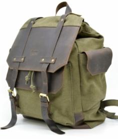 Рюкзак городской кожаный Урбан Tarwa (RН-6680-4lx), зеленый