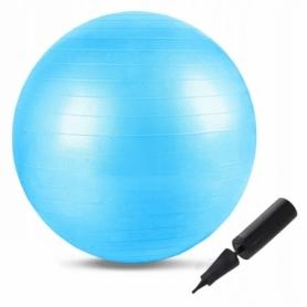 Мяч для фитнеса (фитбол) 55 см Springos Anti-Burst FB0001 Sky Blue