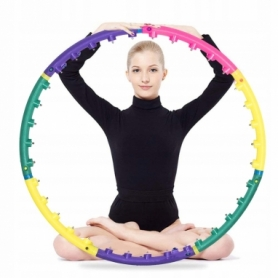Обруч массажный Springos Hula Hoop 85 см цветной (FA0028)