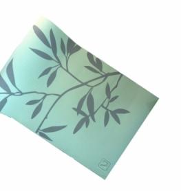 Коврик для йоги (йога-мат) LiveUP Pvc Printed Yoga Mat (LS3231C-08grn), зеленый