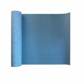 Коврик для йоги (йога-мат) LiveUP Pvc Printed Yoga Mat (LS3231C-08b), синий