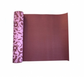 Коврик для йоги (йога-мат) LiveUP Pvc Printed Yoga Mat (LS3231C-08r), красный