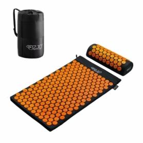 Коврик акупунктурный с валиком 4Fizjo Аппликатор Кузнецова (4FJ0042) Black/Orange, 72 x 42 см