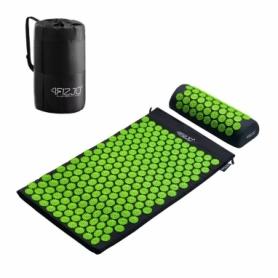 Коврик акупунктурный с валиком 4Fizjo Аппликатор Кузнецова (4FJ0043) Black/Green, 72 x 42 см