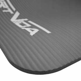 Коврик для йоги и фитнеса SportVida NBR 15 мм серый (SV-HK0249) - Фото №5