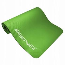 Коврик для йоги и фитнеса SportVida NBR 15 мм Green (SV-HK0250) - Фото №2