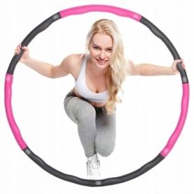 Обруч массажный Springos Hula Hoop 83 см розовый (FA0030)