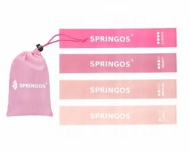 Набор резинок для фитнеса (4 шт.) Springos Mini Power Band 0-20 кг (PB0019)