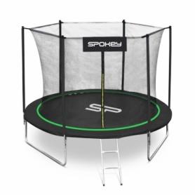 Батут Spokey Jumper (SL927882) - зеленый, 244 см