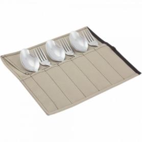 Набор столовых приборов туристический Champion (A00363-Beige) - бежевый, 12 предметов