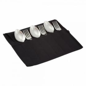 Набор столовых приборов туристический Champion (A00363-Black) - черный, 12 предметов