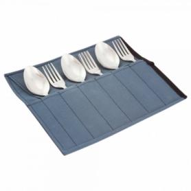 Набор столовых приборов туристический Champion (A00363-Gray) - серый, 12 предметов