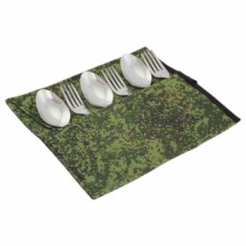 Набор столовых приборов туристический Champion (A00363-Khaki) - камуфляж, 12 предметов