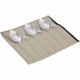 Набор столовых приборов туристический Champion (A00364-Beige) - бежевый, 6 предметов