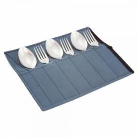 Набор столовых приборов туристический Champion (A00364-Gray) - серый, 6 предметов