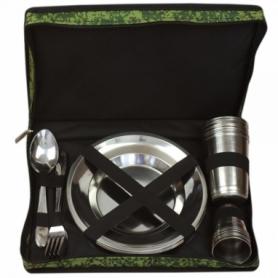 Набор посуды туристический Champion (A00369), 30 предметов