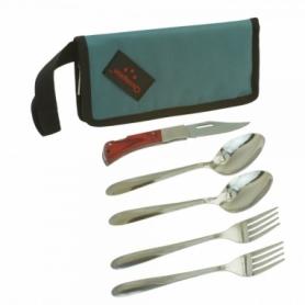 Набор столовых приборов туристический Champion (A-00381-Gray) - серый, 5 предметов
