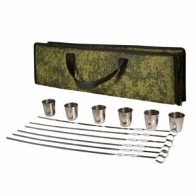 Набор туристический для пикника с шампурами Champion (A00382), 12 предметов