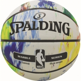 Мяч баскетбольный Spalding NBA Marble Black White Outdoor (NBA-MBW-OUT_7), №7