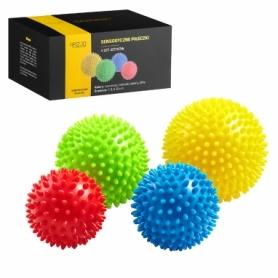 Мячи массажные с шипами 4FIZJO Spike Balls (4FJ0115), 4шт