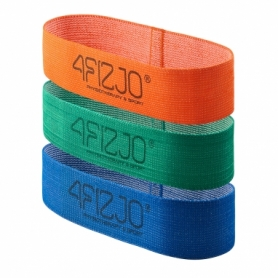 Резинка для фитнеса и спорта тканевая 4Fizjo Flex Band ( 4FJ0126), 3 шт /1-15 кг