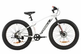 """Велосипед горный фэтбайк Formula PALADIN DD 2020 - AL 26"""", рама - 17"""", Бело-серый с оранжевым (OPS-FR-26-337)"""