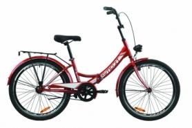 """Велосипед складной Formula SMART с задним багажником St, с крылом St, с фонарем 2020 - 24"""", Красный (OPS-FR-24-235)"""