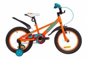 """Велосипед детский Formula JEEP 14G St с крылом Pl 2019 - 16"""", рама - 8,5"""", Оранжево-бирюзовый (OPS-FRK-16-068)"""