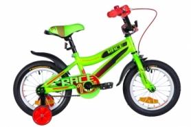 """Велосипед детский Formula RACE 2020 - 14"""", рама - 8,5"""", Черно-оранжевый с бирюзовым (OPS-FRK-14-012)"""