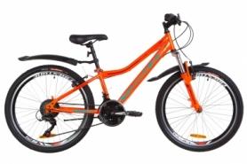 """Велосипед подростковый горный Formula FOREST AM 14G Vbr St с крылом Pl 2019 - 24"""", рама - 12,5"""", Оранжево-бирюзовый (OPS-FR-24-147)"""