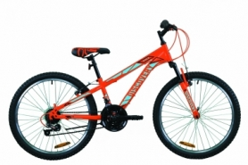 """Велосипед подростковый горный Discovery RIDER 2020 - 24"""", Оранжево-синий (OPS-DIS-24-199)"""