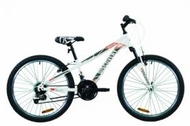 """Велосипед подростковый горный Discovery RIDER 2020 - 24"""", Бело-красный с серым (OPS-DIS-24-195)"""