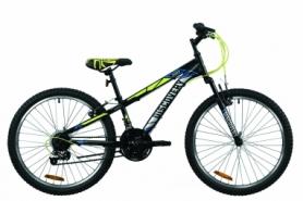 """Велосипед подростковый горный Discovery RIDER 2020 - 24"""", Черно-салатно-серый (OPS-DIS-24-198)"""