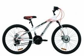 """Велосипед подростковый горный Discovery RIDER DD 2020 - 24"""", Бело-красный с серым (OPS-DIS-24-202)"""