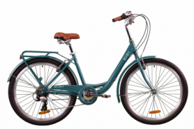 """Велосипед городской женский Dorozhnik RUBY 2020 - 26"""", рама - 17"""", Изумрудный (OPS-D-26-104)"""