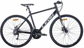 "Велосипед гибридный Leon HD-80 2020 - 28"", Черно-белый (OPS-LN-28-014)"