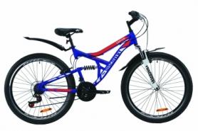 """Велосипед горный Discovery CANYON AM2 Vbr с крылом Pl 2020 - ST 26"""", рама - 17,5"""", Сине-оранжевый (OPS-DIS-26-229)"""