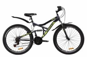"""Велосипед горный Discovery CANYON AM2 Vbr с крылом Pl 2020 - ST 26"""", рама - 17,5"""", Серо-желтый (OPS-DIS-26-230)"""