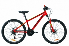 """Велосипед горный Formula THOR 1.0 AM DD 2020 - 26"""", Красно-черный с зеленым (OPS-FR-26-340)"""