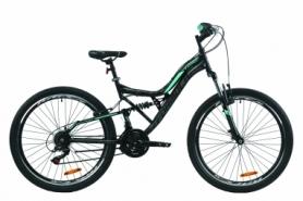 """Велосипед горный Formula ATLAS Vbr 2020 - 26"""", Черно-зеленый (OPS-FR-26-376)"""