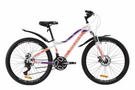 """Велосипед горный женский Discovery KELLY AM DD с крылом Pl 2020 - ST 26"""", Бело-фиолетовый с оранжевым женский (OPS-DIS-26-259)"""