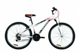 """Велосипед горный Discovery RIDER 2020 - 26"""", Бело-красный с серым (OPS-DIS-26-309)"""
