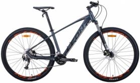 """Велосипед горный Leon TN-70 2020 - 29"""", рама - 15,5"""", Графитовый с черным и оранжевым (OPS-LN-29-085)"""