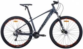 """Велосипед горный Leon TN-70 2020 - 29"""", Графитовый с черным и оранжевым (OPS-LN-29-075)"""