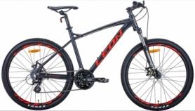 """Велосипед горный Leon HT-90 2020 - 26"""", Графитовый с красным (OPS-LN-26-056)"""