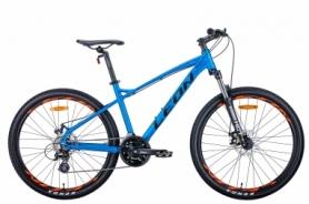 """Велосипед горный Leon HT-90 2020 - 26"""", рама - 16.5"""", Синий с оранжевым (OPS-LN-26-057)"""