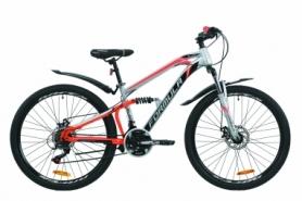 """Велосипед горный Formula BLAZE 2020 - 26"""", Серо-красный с черным (OPS-FR-26-379)"""